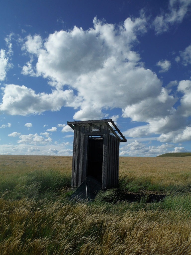 An afternoon visit to the same outhouse...